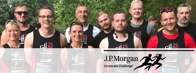 The J. P. Morgan Corporate Challenge 2019 - Team GHF from 2018